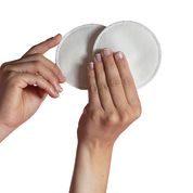 Discos de lactancia blancos de algodon