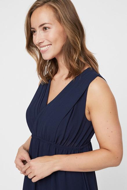 Vestido lactancia embarazo fiesta azul noche