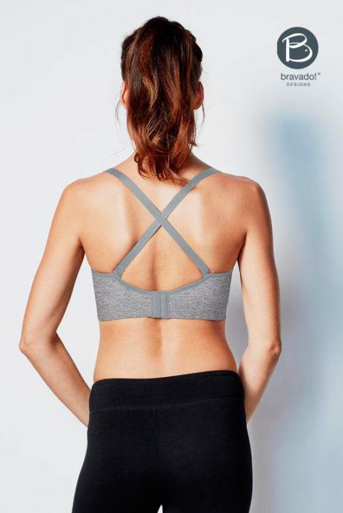sujetador lactancia yoga multi posición con relleno extraíble