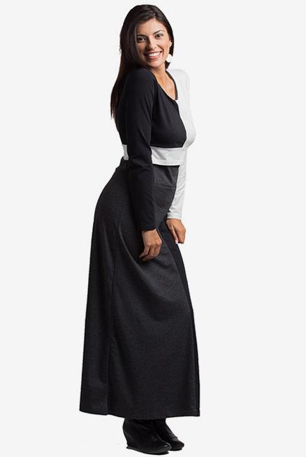 vestido largo premamá y de lactancia