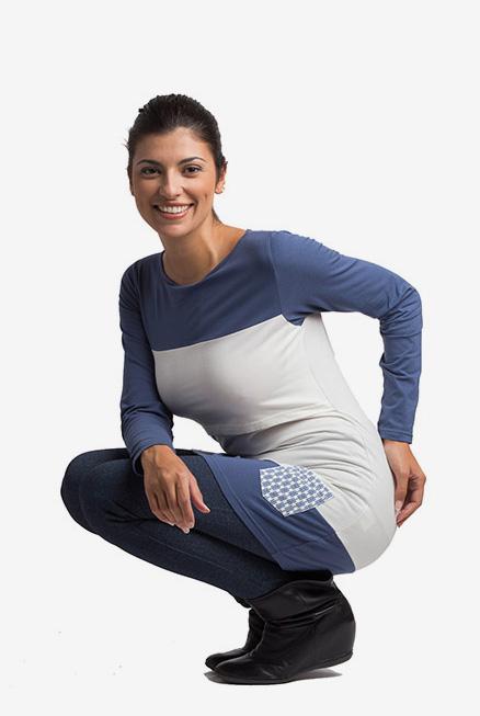 Camiseta de lactancia Berta azul
