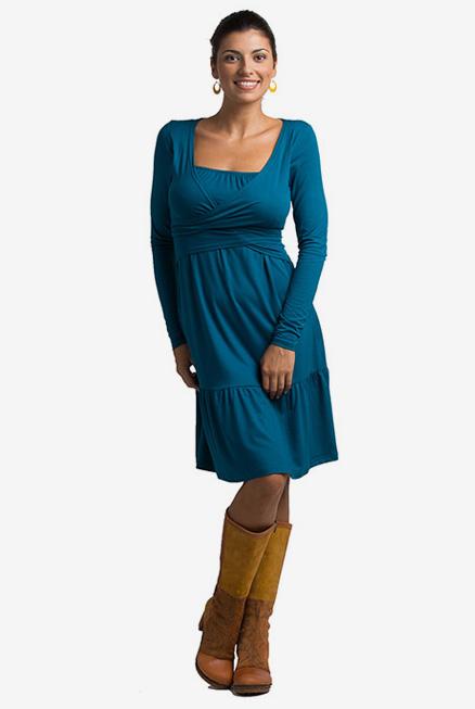 Vestido lactancia embarazo Vera, última talla azul XXL