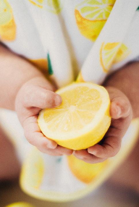 bandana babero limones