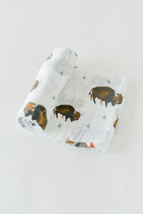 Muselina bisontes búfalos