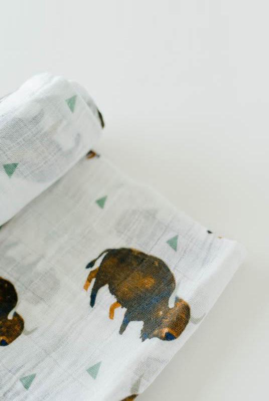 Muselina algodón Bisontes 120×120