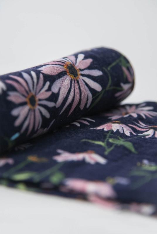 Muselina algodón Flora 120×120