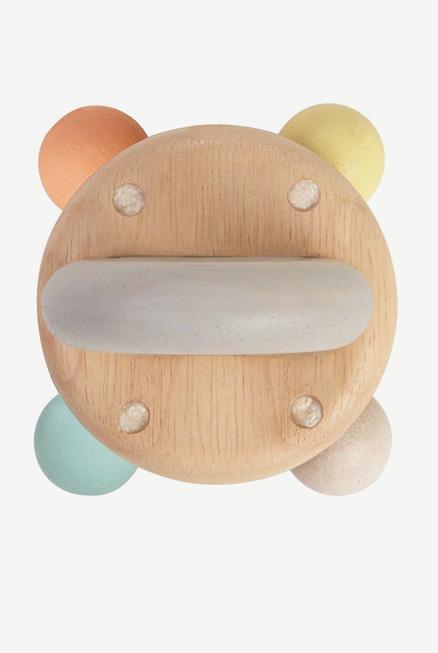 Sonajero bebe ecologico madera campana