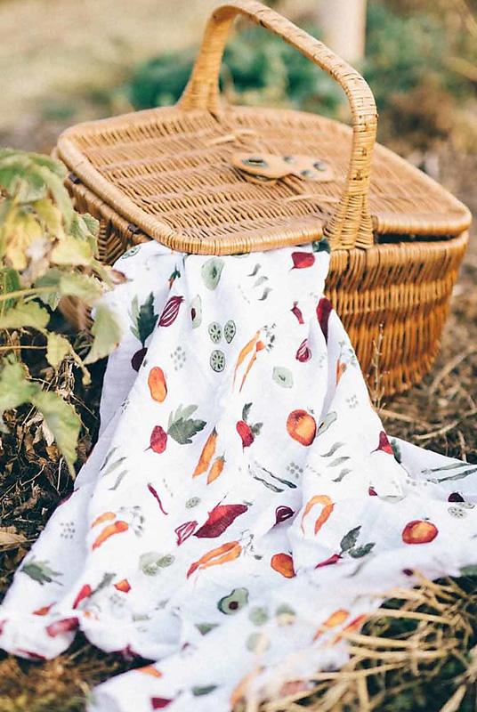 Muselina algodón Vegetales 120×120