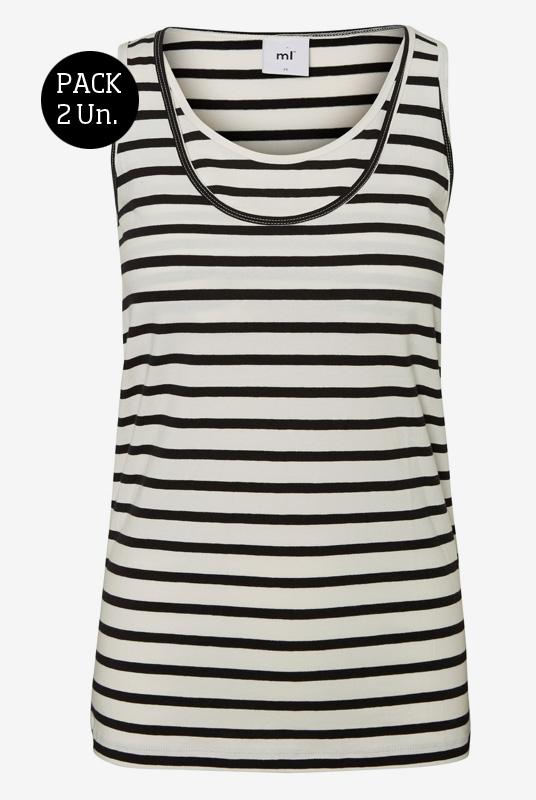 5848739414e Pack 2 camisetas lactancia sin mangas | Tetatet