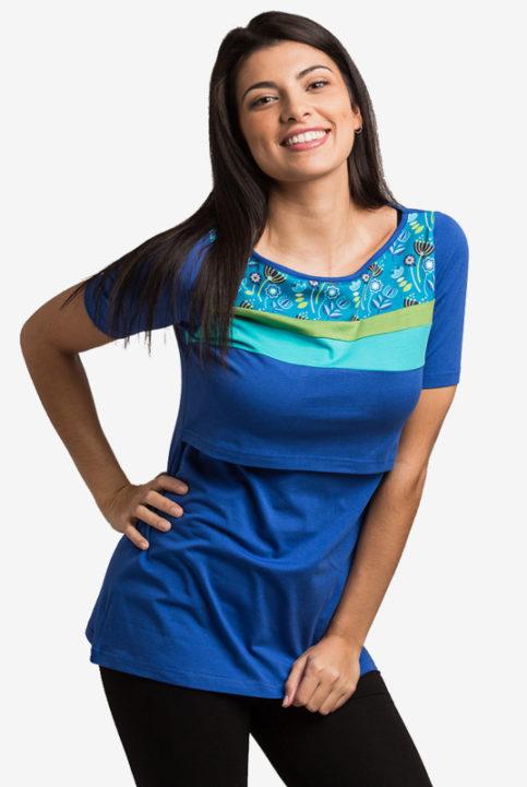 Camiseta lactancia Nerea azules Arbol de Amor
