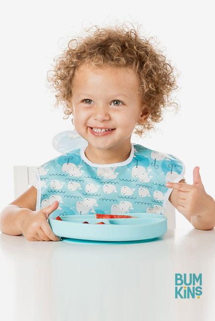 plato silicona azul blw ventosa bebé