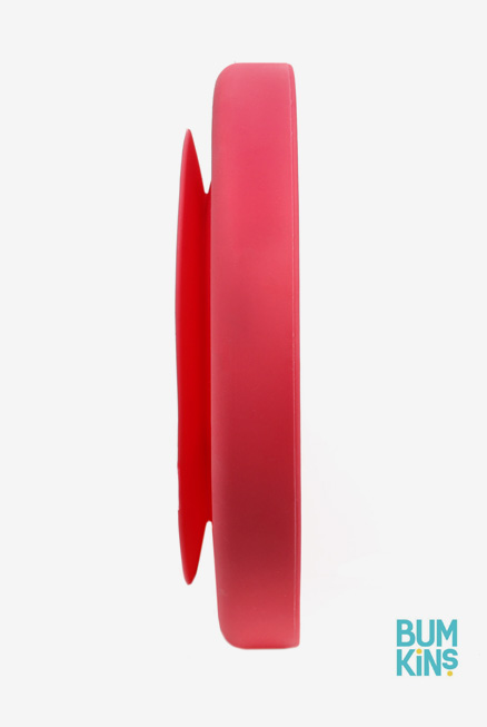 Plato silicona bebé con ventosa grande rojo