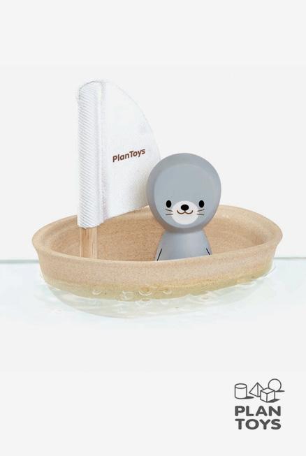 Velero foca Plantoys barquita bañera