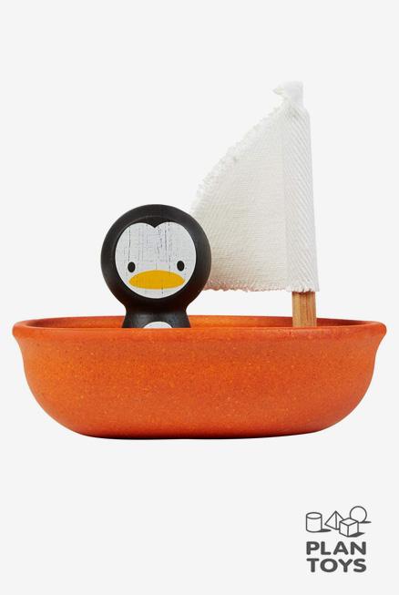 Barquito velero Pingüino Plantoys