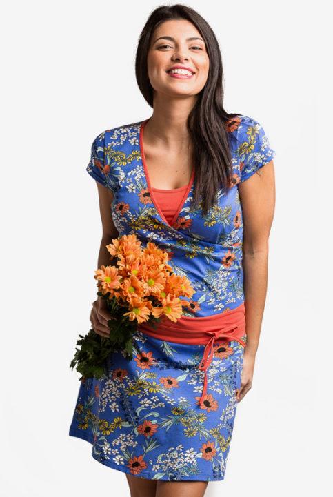 Vestido lactancia y embarazo floral ailen