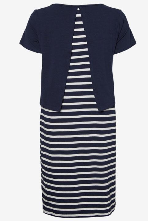Vestido de lactancia chic marinero rayas azul
