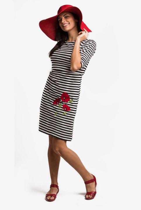 vestido lactancia y embarazo poppy