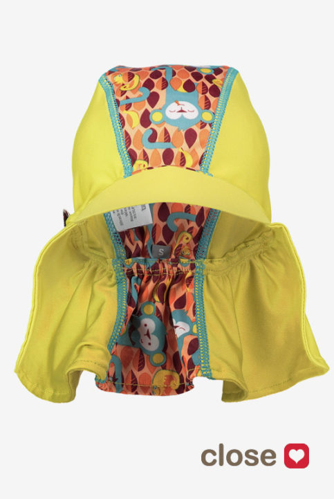Gorros protección solar visera bebés niños monitos
