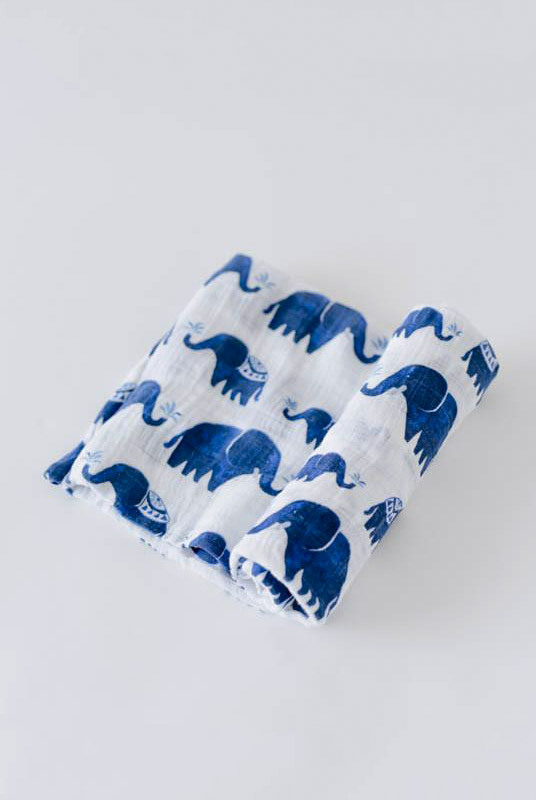 Muselina algodón elefantes 120×120