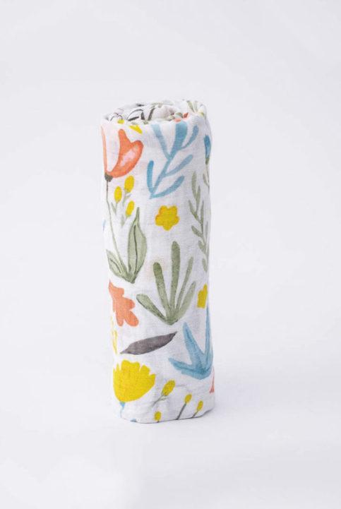 muselina de algodon 120x120 estampado flores prado