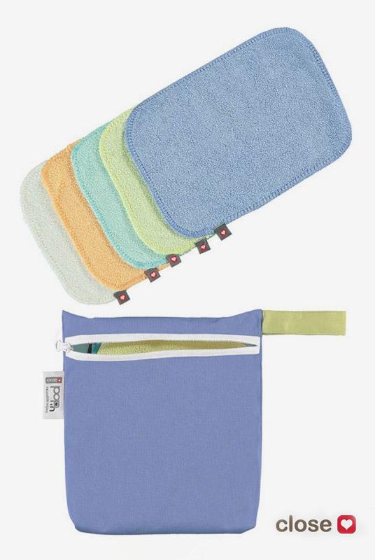 Pack 10 toallitas bambú pastel