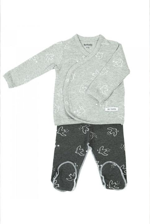 pijama grey birds