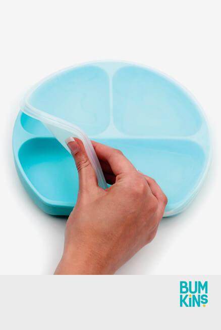 Tapa adaptable plato silicona Bumkins