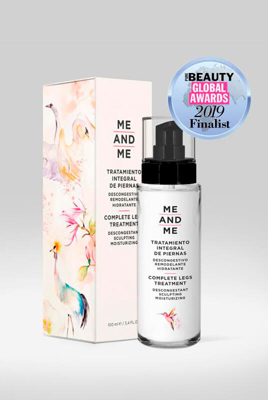 Me and Me – Tratamiento integral de piernas 100ml – descongestivo, remodelante e hidratante