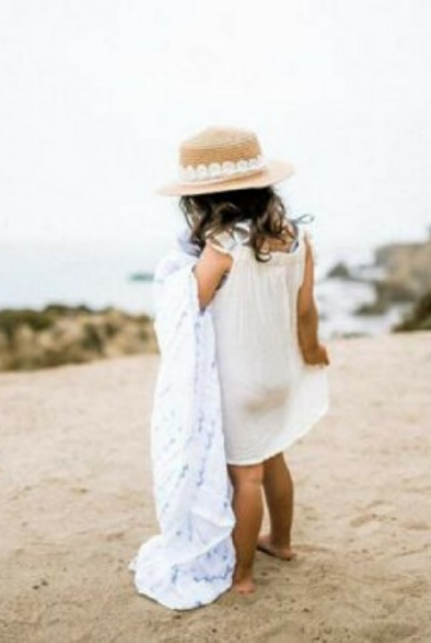 Muselina algodón Olas 120×120