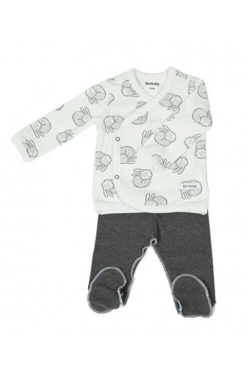 Conjunto recién nacido pijama + Gorrito White Bunny