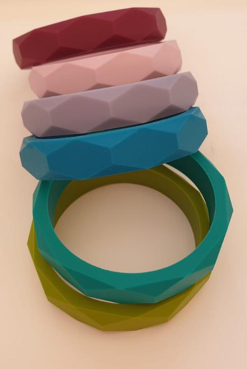 Pulsera de silicona dentición nuevos colores