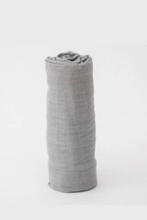 Muselina algodón gris