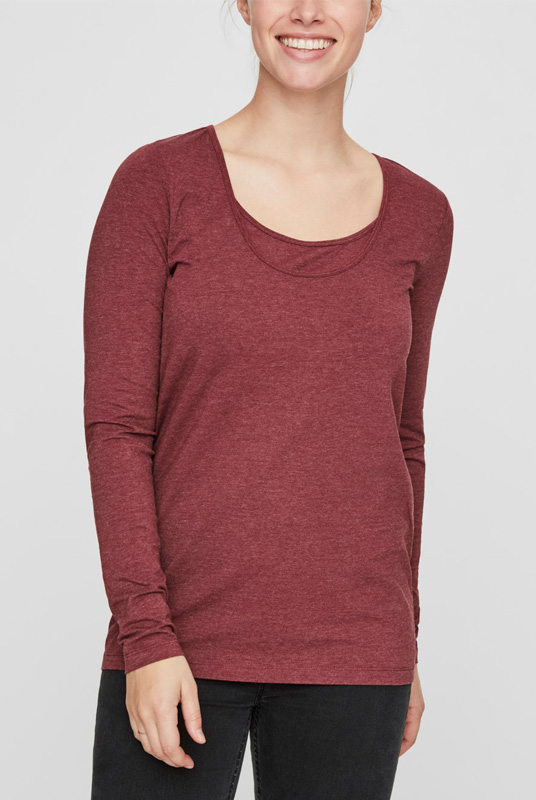 Camiseta lactancia manga larga (organic)