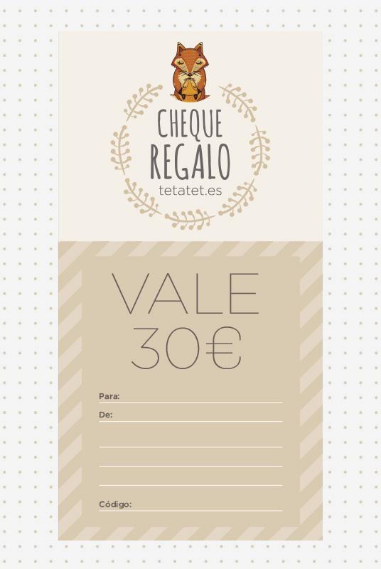 Tarjeta/ Cheque Regalo Tetatet