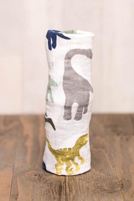 Muselina algodón Dinosaurios 120×120