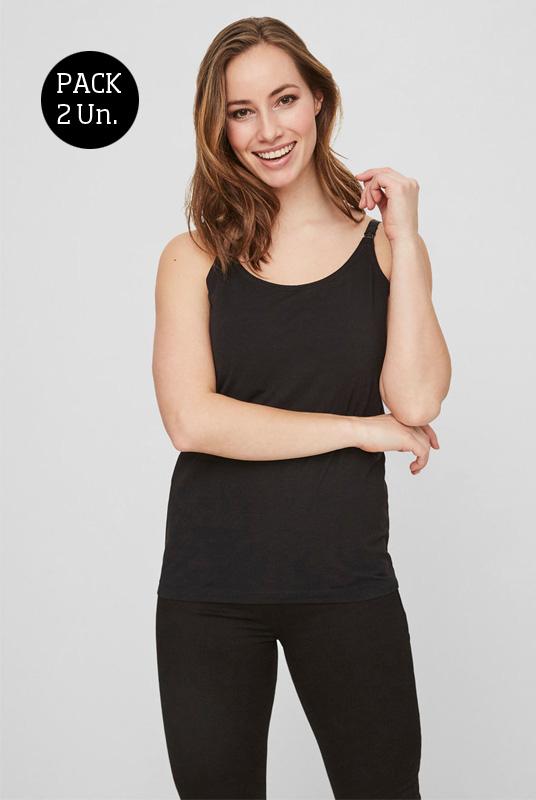 Pack 2 Camisetas lactancia tirantes (organic)
