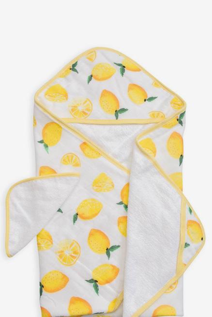 Set de baño algodón Limones (toalla capa + manopla)